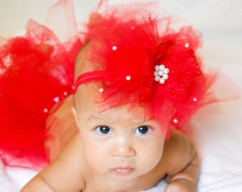 Red Headband for Baby Girl, Newborn Headband, Girl Hair Accessory,