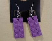 LEGO® Earrings - Modern funky, AFOL, Party favor, Geeky Jewelry, Nerdy Jewelry
