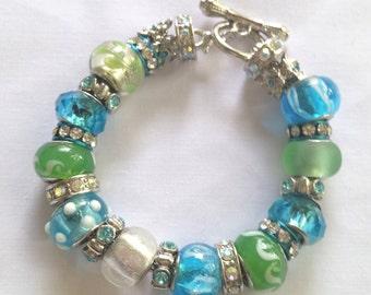 Blue and Green Charm Bracelet