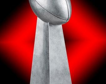 Lombardi Style Championship Replica Fantasy Football Trophy