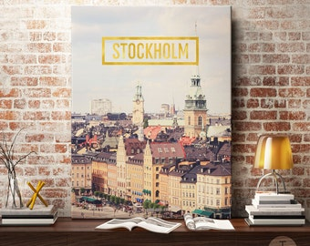 Stockholm Art Prints, Stockholm Wall Art, Stockholm Wall Decor, Stockholm Inspirational Quote, Stockholm Typography Art, Stockholm Print