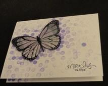 Butterfly card - Bokeh Butterfly