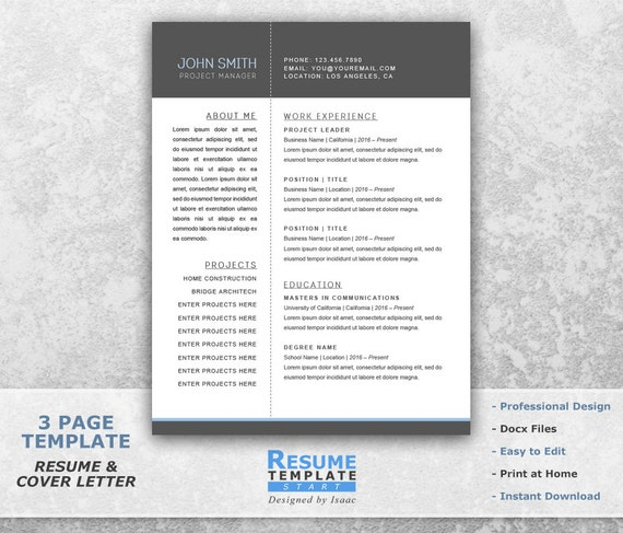 resume templates word project manager resume template word curriculum vitae examples resume cover letter template word t21 - Edit Resume Template Word