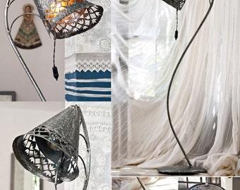 Design metal floor lamp unique industrial light standing lamp wrought iron lamp steel metal art light modern sculpture lamp Iron art gift