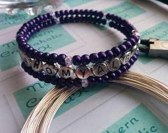 FIBROMYALGIA. Memory Wrap, Bracelet, Beaded Bracelet