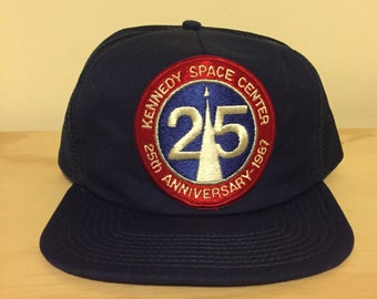 vintage 25th anniversary kennedy space center snapback hat