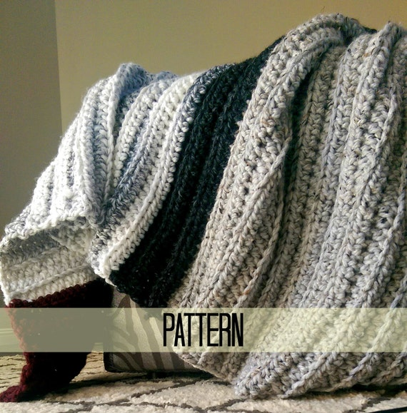 Chunky Crochet Blanket Pattern Beginner Crochet Pattern by ...