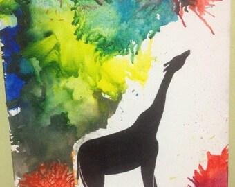 Crayon Art Giraffe