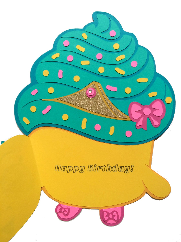 Shopkins Birthday Card Shopkins Cupcake Queen Birthday Card