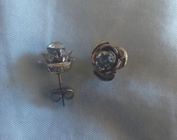 Rose Earrings Etsy Rose Gold Earrings Shaped Like