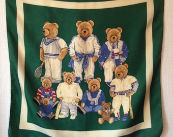 Square bear silk