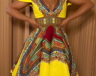 Beautifully Unique African Print Dress