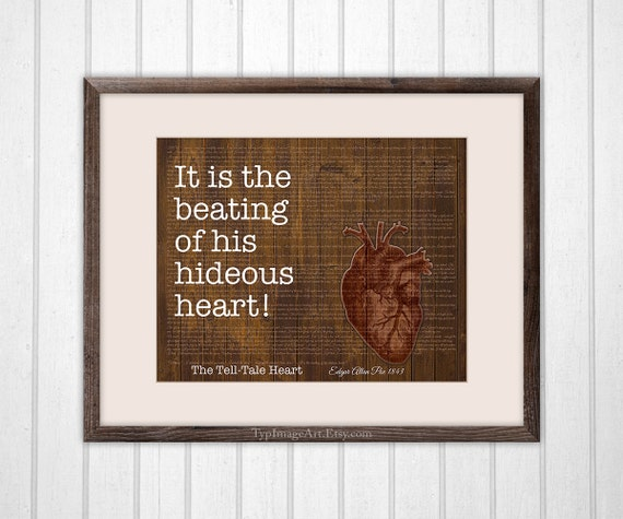 Tell Tale Heart Quotes: Items Similar To Literary Gifts, Tell-Tale Heart Poe