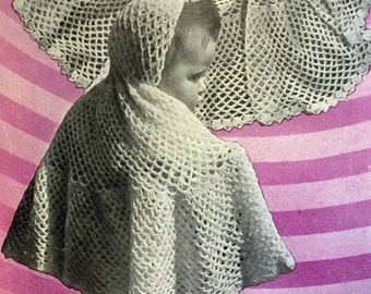 Vintage knitting and crochet pattern for two shawls