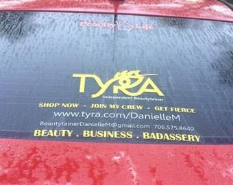 Tyra beauty car decal