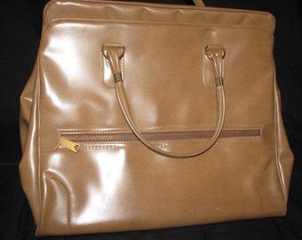 Vintage large faux leather large handbag