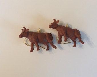 Jersey Brown Cow Earrings