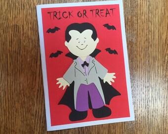 Dracula Halloween Card