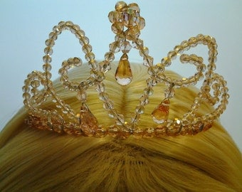 how to make a crystal crown with wire