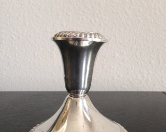 Beautiful Vintage Sterling Silver Weighted Candle Holder