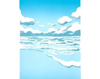 Screen Print Poster - At the coast