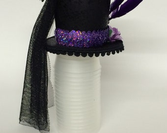 purple passion mini top hat