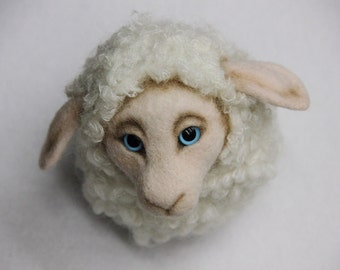 "Felted toy sheep ""Austin"""
