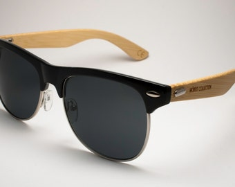 Rock & Roll - Classic Clubmaster Eco-friendly Bamboo Sunglasses
