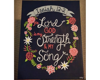 Isaiah 12:2 Canvas Painting