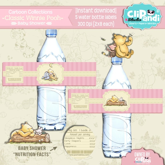 Winnie The Pooh Templates For Baby Shower: INSTANT DOWNLOAD CLASSIC Winnie Pooh Collection By