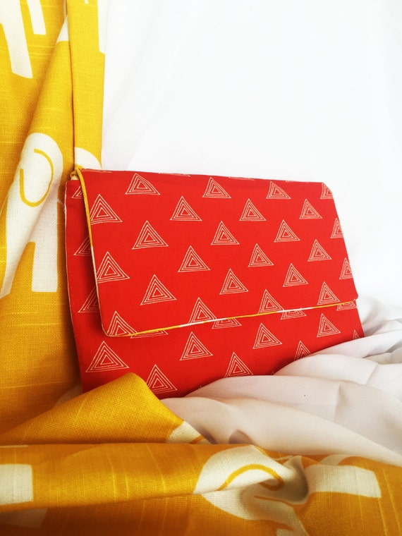 So Devoted - Delta Sigma Theta sorority-inspired handmade clutch