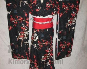 Custom Japanese furisode kimono