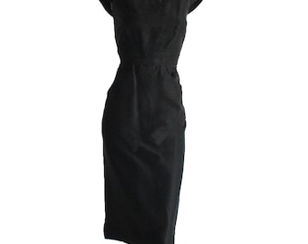 Exquisite Vintage 50s Hattie Carnegie Black Dress