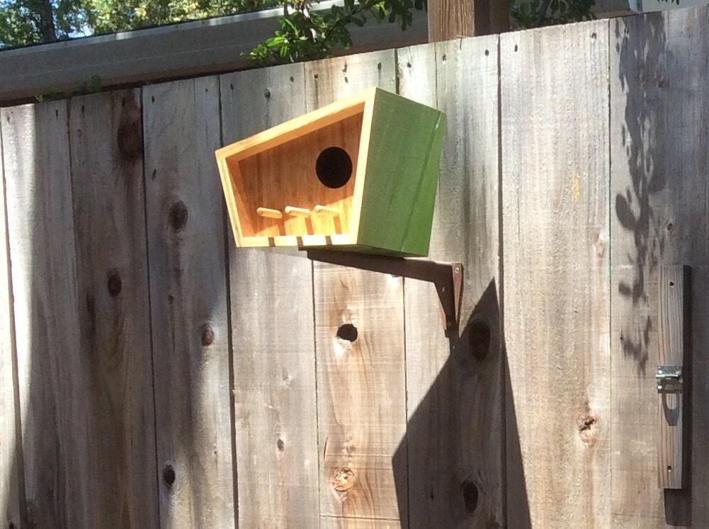Mid Century Modern Birdhouse By Sourgrassbuilt On Etsy
