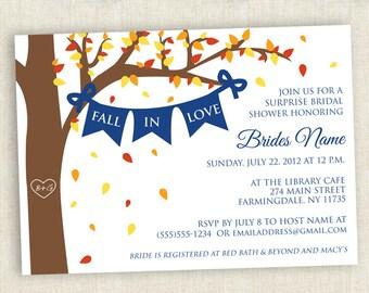 Fall Themed Bridal Shower - Printable Invite
