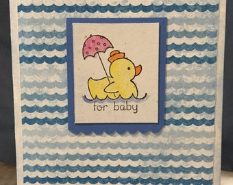 Stampin Up Baby Card for a Boy