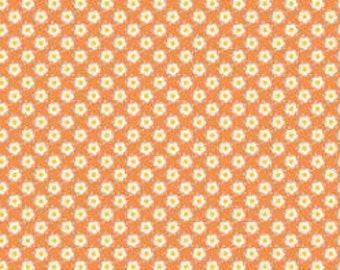 Riley Blake, Hello Sunshine, Daisy in Orange, Lori Whitlock, 1 yard C3154