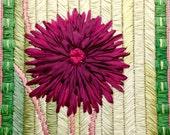 Dahlia Silk Flower Needlepoint Complete Kit - 4th in this Silk Flower Series