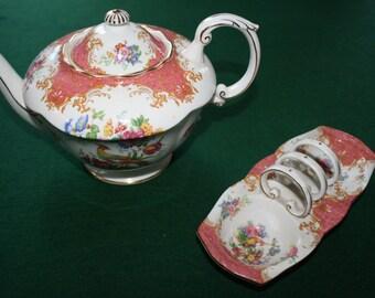 Paragon Fine Bone China Teapot and Toast clip