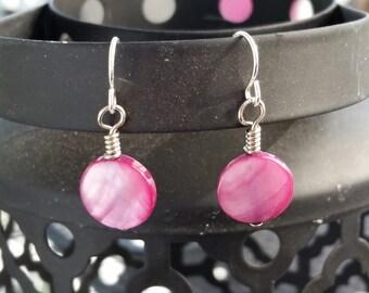 Sale! Round Purple Earrings