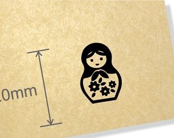 Clear Acrylic Stamp. babushaska stamp