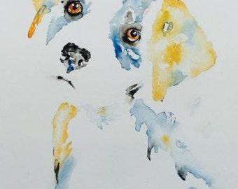Labrador Puppy, Original Watercolor, LITTLE BOY LOST, 11 x 15