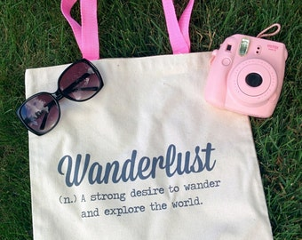 Wanderlust Cotton Tote Bag - READY TO SHIP!