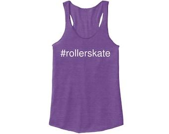 Hashtag #rollerskate Racerback, Purple
