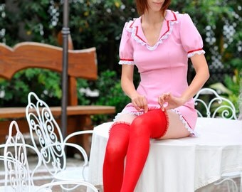 ON SALE! Vocaloid Meiko cosplay costume pink Nurse Halloween Party, used, with wig