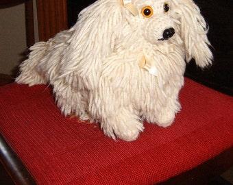 Hand Crocheted Dog - Vintage
