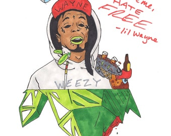 Weezy - drawing - art print