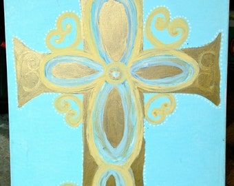 Gold Cross \\ Canvas