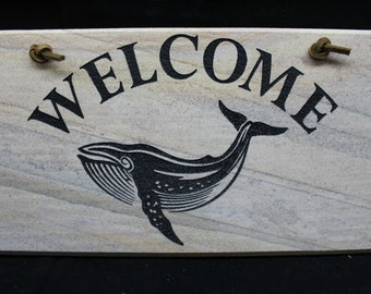 Welcome Sign - Whale