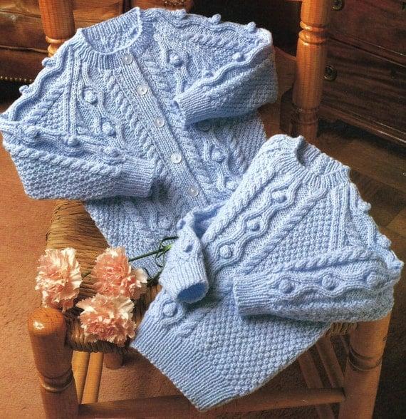 Moss Stitch Jumper Knitting Pattern : Sweater & Cardigan PDF Knitting Pattern 20-26 by PoppysPatterns